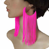 New Fashion Jewelry Women's Earring Tassel Neon Drop Earrings 5 Colors Free Shipping