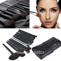 100% brand new Professional 32pcs Makeup Brushes Cosmetic Set Foundation Eyeshadow Lip brush Kit Tools + Black Leather Bag