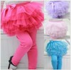 KZ-295,Hot sale ! girls skirts leggings,Sweet Children skirt with tight legging Girls multi-color yarn skirt wholesale 4colours