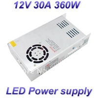 12V 30A 360W super power Switching led Power Supply,100~120V/200~240V AC input 12V DC output for led strips free shipping