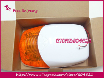 Hot sale EMS Free Shipping!  Portable Wireless Waterproof Alarm Siren with Strobe Light and backup battery Siren300