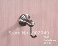 Elegant Design Chrome Plating Brass High Quality Best Price Eco-friendly Square Robe Hook KG-2805 Free Shipping
