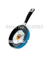 qt004 egg clock 1pcs 6color Creative music pan fry eggs pot fashion wall clock Blue, green, yellow, red, orange, pink