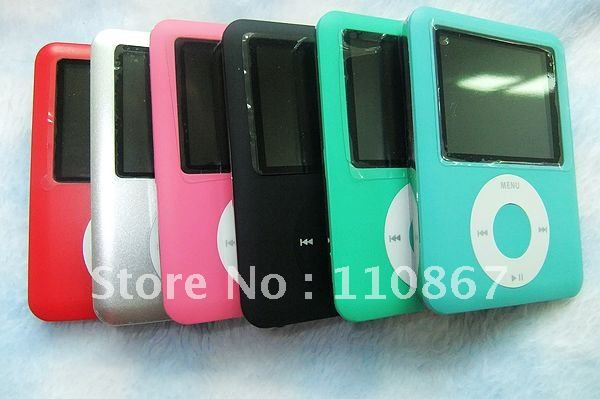 "Free shipping 2pcs1.8"" 3rd Generation mp4 player 8GB with earphone, USB cable & retail box ,dropship gift for new year(China (Mainland))"