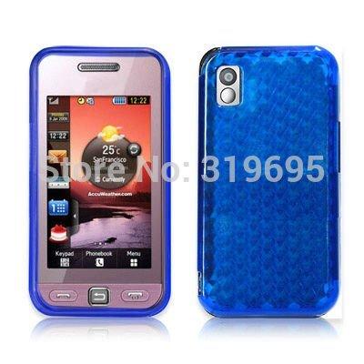 Diamond Blue TPU Gel Case Armor Cover Protector For Samsung S5230 Tocco Lite(China (Mainland))