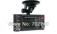 New Full HD H264 Dual lens Car Vehicle Dash Dashboard Dual Car Camera DVR Remote Control 60fps Camera Free Shipping