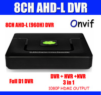 8ch 960H Security CCTV DVR Recorder Full D1 recording Mobile Phone View, 1ch audio, Network Monitor