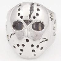 Black Friday Hockey Jason Mask SKull Rings Novel Mens 316L Stainless Steel Jewelry, ROCK, Biker, Wholesale, free shipping  VR063