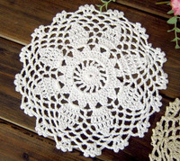 Set of 24 Crocheted placemat  for home wedding decoration 6.3 inches