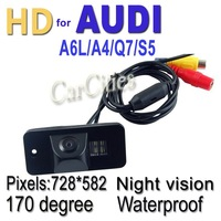 CCD car camera170 degree for Audi A6L/A4/Q7/S5 Waterproof shockproof Night version Size:70.5*32.8*34.5mm Wholesale Drop shipping