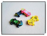 3pcs/lot 3D Simulation Skateboard Eraser For Kids Creative Cartoon Stationery(QW-015)