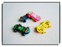 3pcs/lot 3D Simulation Skateboard Eraser For Kids Creative Cartoon Stationery(QW-015)