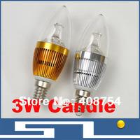 Hot sale!! High power LED candle lights,LED Lamp, 3W  LED Bulb light,E27/E14-Energy-saving, 270lm , 10pcs/lot
