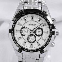 Hot Sale Stylish CURREN Men Sports Men Watch Stainless Steel Adjustable Men Quartz Analog Wrist Watch Men's Watches Free Shiping