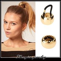 Metal Alloy sleek hair jewelry Elastic hairband Fashion personality Gold/Silver headband for women girls hairbands