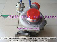 NEW GT25 TB2560S 700716-5009S 700716-0009 8972089663 TURBO Turbocharger Fit For ISUZU NQR light Truck 1997-2004 4HE1 4HE1XS 4.8L