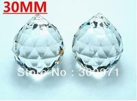 FREE SHIPPING +102pcs/ lot Good quality shinning 30mm TRANSPARNETS crystal chandelier ball / crystal lighting ball