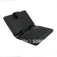 Black Leather Case With Micro USB Interface Keyboard For 7 inch MID Tablet PC Free Shipping+Dropshipping
