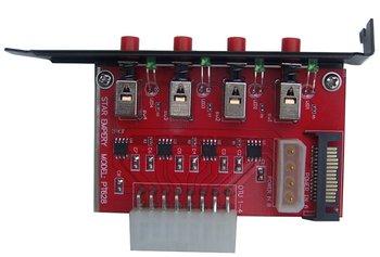 4 SATA hard drive power selector , hdd power switch