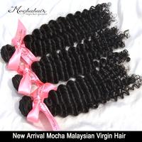 "Mocha Hair 3 or mix 3 pcs lot  7A Virgin Deep Curly Hair , Weave Malaysian Hair  Wholesale Natural Color 12""~28"""