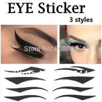 Makeup eye sticker 300set 2014 Vintage Eye liner Sticker Shadow  Smoky eyeliner tattoos fashion makeup cosmetics