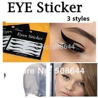 200 set/lot Eye Tattoo sticker Eye liner Stickers Shadow  Smoky  black eyeliner tattoo temporary new designs