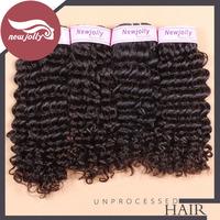 3PCS brazilian kinky curly virgin hair with lace closure loop hair extensions 12-28 inch new star virgin brazilian hair