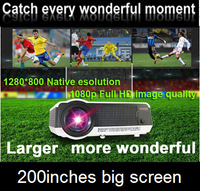 DHL Free Shipping Full HD LED Video Projector with 200W LED Lamp High Brightness 3000lumens Hot Selling! Hot selling