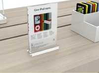 A4 size acrylic display stand holder ,show stand for Ads/brochure/signs in Apple store: SSLT-ZJ-T08