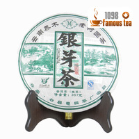 Superfine Yunnan 357g Puer/Puerh/Pu'er Silver Bud Raw White Tea Cake,Good Taste and Health Care,Free Shipping/1098 Wholesale