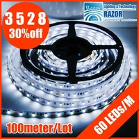 2012 CE &amp; ROHS free for shipping via DHL 3528 strips. 60 LEDs/M ,waterproof,  the best price on aliexpress.com