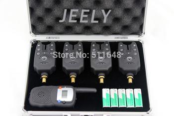Free shipping! Fishing bite alarm wireless set JY-23(4alarms+1receiver)