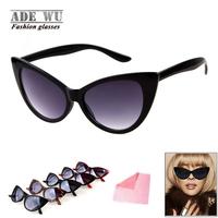 Hot 2014 Ladies Cat Eye Sunglasses Fashion Designer Cat Frame Sun Glasses Women Summer Hispter oculos de sol feminino UV400