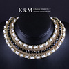 K&amp;M---Hot fashionable classical unique design necklace with gold plated. Nickel free NK-00863, Mix order accepted