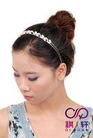 Free Shipping Popular Factory Wholesale Crystal Fashion Headbands 2012 Customized