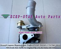 NEW GT1549S 751768 751768-5004S Turbo Turbocharger For Renault Laguna Megane Scenic Trafic; Volvo S40 V40 F9Q F9Q740 1.9L 105HP