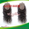 Top closure silk base hidden knots with baby hair loose curly hair style Brazilian remy hair natural scalp china wholesale(China (Mainland))
