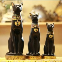4 options, Egypt Style Moon Goddess Incarnation Cat God Figurine Resin Decor Collectible Cat Figurine