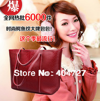 Super! Hot European US Fashion Genuine Leather Crocodile Grain Snakskin Grain Lady's Shoulder Bag  Messenger Bags Free Shipping