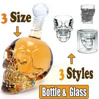 Doomed Crystal Head Vodka Skull Sets (500ml 330ml for Bottle & 55ml 65ml 75ml for Glass / mug )