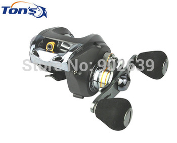 Awesome Left Hand Low Profile Baitcaster Fishing Reel Black Hawk 103L