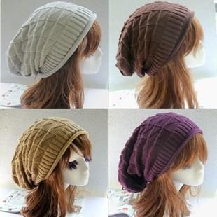 Brand 2014 New Women's Cotton Hip Hop Ring Warm Beanie Cap Winter Autumn Women Knitted Hats Men Beanies Free Shipping 80039