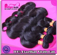 Thick brizilian body wavy hair 100% raw virgin brazilian hair extensions 3 pc unprocessed brazilian body wave hair  freeshipping
