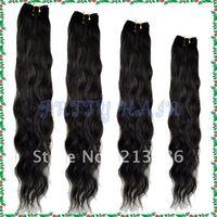 4 Size ,3pcs/Lot  Virgin Brazilian Hair Weft, Body Curl ,Natural Black Color,5350