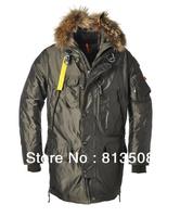 Free shipping 2013 real fur coat for men's down jackets winter outdoor clothing brand  overcoat  Sanbing 903 Kodiak Long Parka