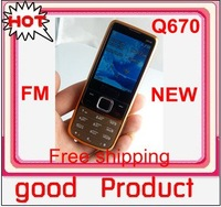 NEW Q670 Russian keyboard Dual Sim Gold Unlocked phone (Hongkong Post = Singapore Post sent)