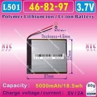 [L001] 3.7V,5000mAH,[468297] PLIB (polymer lithium ion battery) Li-ion battery  for tablet pc,power bank,onda,cube,ployer,Vido