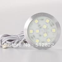 LED Cabinet light With Power Driver Junction Port inside Slim Round Simple Style SMD5050 110V 220V Cabinet Light Back Lighting