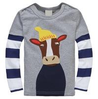 Excellent Quality Boy's Autumn Long Sleeve Tshirts with Animal Design, 6 Sizes/lot - JBLT333/JBLT334/JBLT335/JBLT336/JBLT359