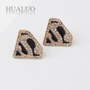 Fashion Jewelry Gold Rhinestones Heart Drop Earrings E230